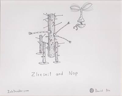 Drawing - Zleesnit And Nop by Daniel Noe
