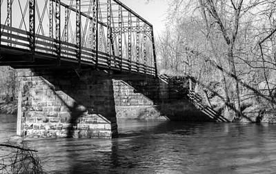 Photograph - Zoar Iron Bridge by Jack R Perry