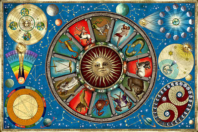Signs Of The Zodiac Photograph - Zodiac Colour by Garry Walton