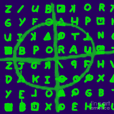 Napa Digital Art - Zodiac Killer Code And Sign 20130213p128 by Wingsdomain Art and Photography