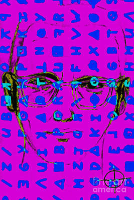 Zodiac Killer With Code And Sign 20130213m180 Art Print