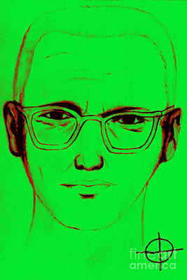 Zodiac Killer With Sign 20130213 Art Print