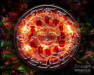 Digital Art - Zodiac by Mynzah Osiris