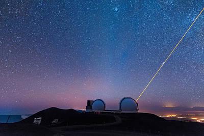 Photograph - Zodiacal Light Above Mauna Kea Observatory 2 by Jason Chu