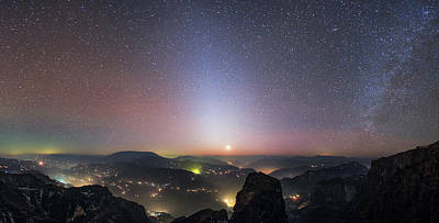 Beer Blueprints - Zodiacal Light And Milky Way Shines by Jeff Dai