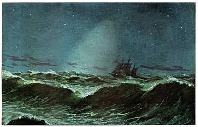 Zodiacal Light Over The Sea Art Print