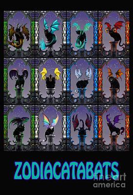 Zodiac Digital Art - Zodiacatabats by Stanley Morrison