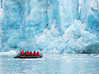 Inflatable Photograph - Zodiaks Off The Russian Research Vessel by Ashley Cooper
