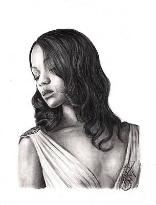 Drawing - Zoe Saldana by Rosalinda Markle