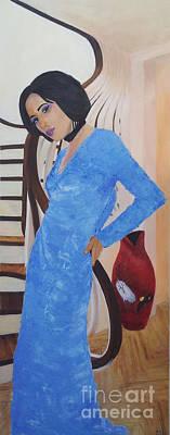 Staircase Painting - Zoe Solnantzin 4/24/14 by Bob Matlin
