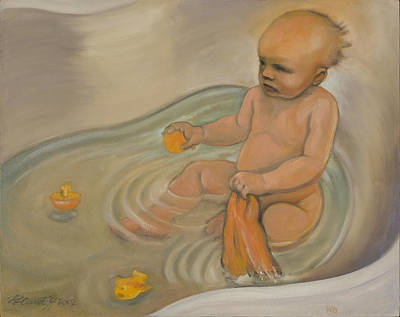 Painting - Zoe's Bath by Laura Lee Cundiff