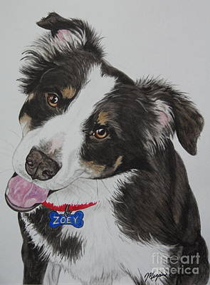 Pet Portraits Painting - Zoey by Megan Cohen