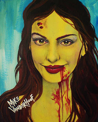 Anne Hathaway Painting - Zombie Anne Hathaway by Mike Vanderhoof