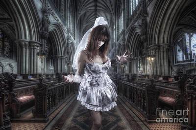 Zombie Bride Art Print