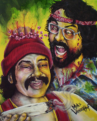 Brain Painting - Zombie Cheech And Chong by Mike Vanderhoof
