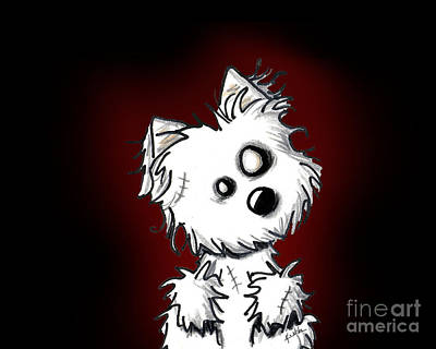 Zombie Dog Art Print by Kim Niles