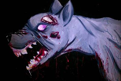 Painting - Zombie Dog by Marisela Mungia