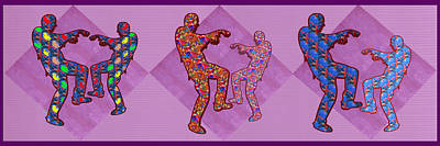Champion Mixed Media - Zombie Funny Comic Cartoons Dance Zombie Dance Grand   36x12 Horizontal Landscape Energy Graphics Ba by Navin Joshi