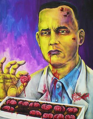 Brain Painting - Zombie Gump By Mike Vanderhoof by Mike Vanderhoof
