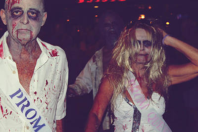 Festival Photograph - Zombie Prom King And Queen by Laurie Search