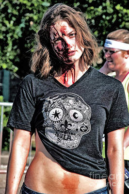 Photograph - Zombie Run Nola 10 by Kathleen K Parker