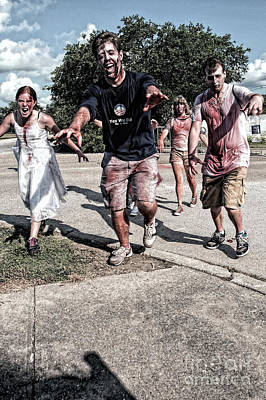 Photograph - Zombie Run Nola 15 by Kathleen K Parker