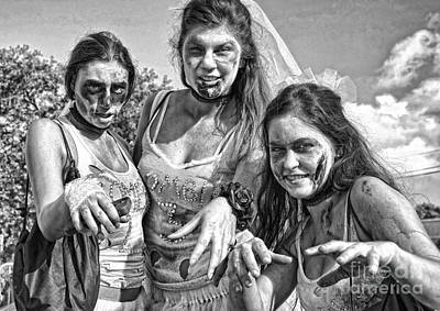 Photograph - Zombie Run Nola 19 by Kathleen K Parker