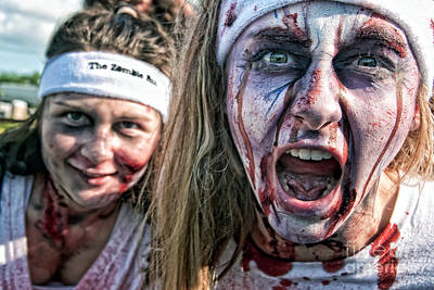 Photograph - Zombie Run Nola 2 by Kathleen K Parker