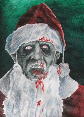 Zombie Santa Original by Jeremy Moore