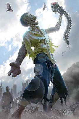 Doomsday Digital Art - Zombie Scraps by Tom Wood