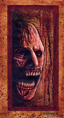 Prison Painting - Zombie Thing by David Shumate