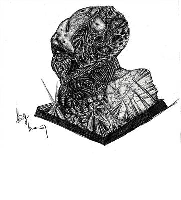 Drawing - Zombie Wax by Mike Sangh