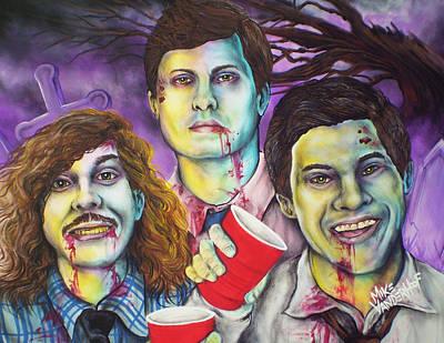 Zombie Workaholics By Mike Vanderhoof Art Print by Mike Vanderhoof