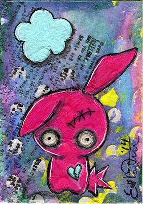 Zombiemania 1 Art Print by Lizzy Love