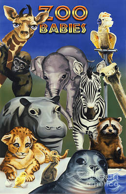 Painting - Zoo Babies by Tim Gilliland