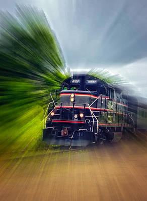 Train Photograph - Zooming Through Ontario by Steve Harrington