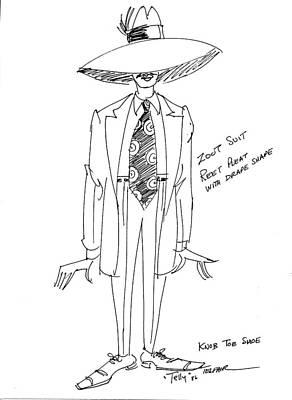 Zoot Suit Illustration 2 Art Print