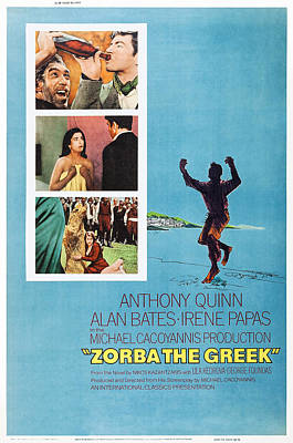1960s Poster Art Photograph - Zorba The Greek, Us Poster Art, Top by Everett