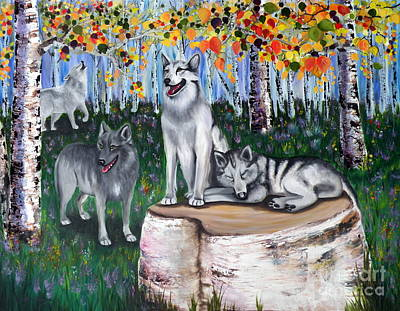 Zorros Wolves Amid The Aspens Art Print
