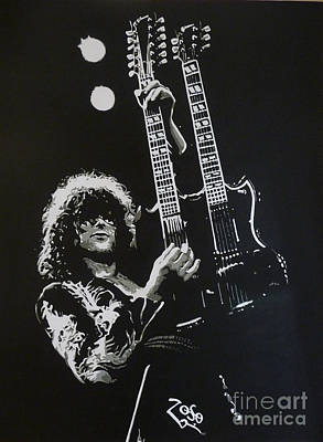 Jimmy Page Painting - Zoso by ID Goodall