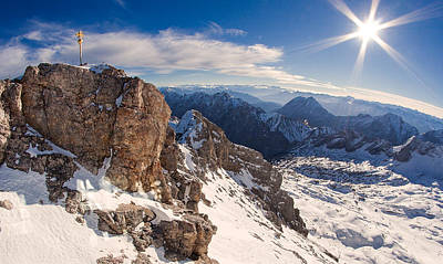 Zugspitze Summit Art Print