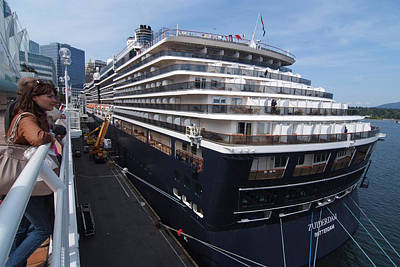Photograph - Zuiderdam Rotterdam Cruise Ship by Devinder Sangha