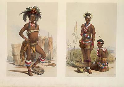 Zulu Dancers Art Print