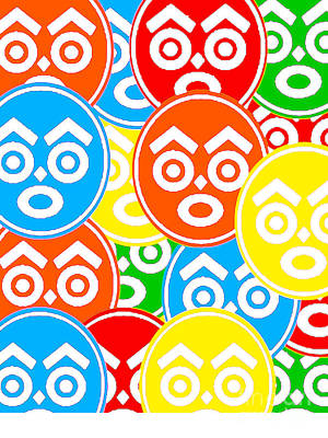Zulu Nation Multi-color Logo Head Art Print