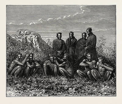 Zulus. The Zuluare The Largest South African Ethnic Group Art Print by Litz Collection