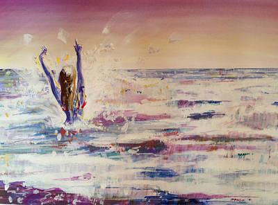 Malibu Painting - Zuma Girl by Marco Ippaso