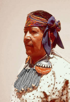 Zuni Photograph - Zuni American Indian by Linda  Parker