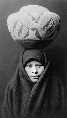 Zuni Photograph - Zuni Girl Circa 1903 by Aged Pixel
