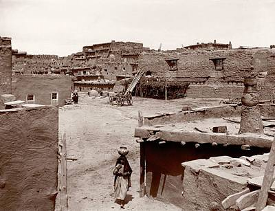 Ancient Culture Photograph - Zuni Pueblo by Mid-manhattan Picture Collection/new York Public Library
