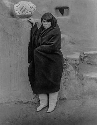 Zuni Photograph - Zuni Woman Circa 1903 by Aged Pixel